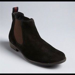 Paul Green black suede pull on ankle booties 7 A7